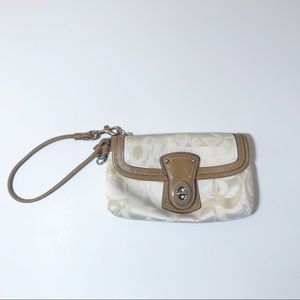 Two Coach Wristlets Signature Fabric